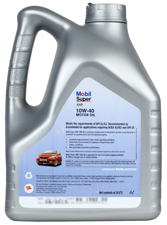 Mobil Super Xhp 10w 40 Motor Oil 4 L Car Motorbike Shell Helix Hx7 Api Sn Cf Oli Mesin Bensin Liter