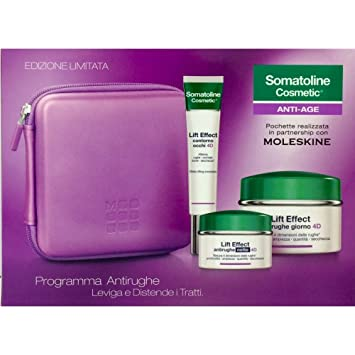 Somatoline Cosmetics Cofanetto Lift Effect 4D Crema Antirughe Giorno 50ml +  Contorno Occhi 15ml + Crema b6b4aed777b