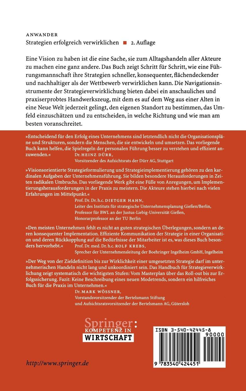 Strategien erfolgreich verwirklichen: Wie aus Strategien echte Wettbewerbsvorteile werden (German Edition) by Springer