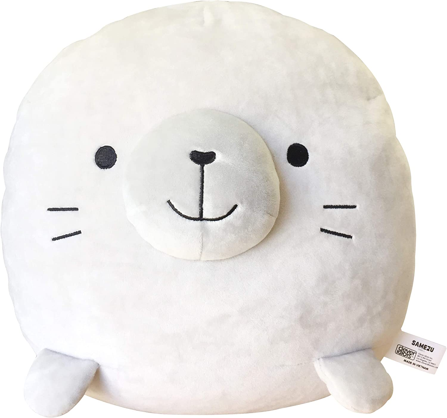CLEVER IDIOTS INC SAMEZU Mochi Squishy Plush Stuffed Animal - Cute, Collectible and Cuddly Toy Character - Authentic Japanese Kawaii Design (Yummy)