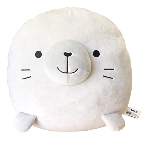 CLEVER IDIOTS INC SAMEZU Seal Mochi Squishy Plush Stuffed Animal - Cute,  Collectible and Cuddly Toy Character - Authentic Japanese Kawaii Design -