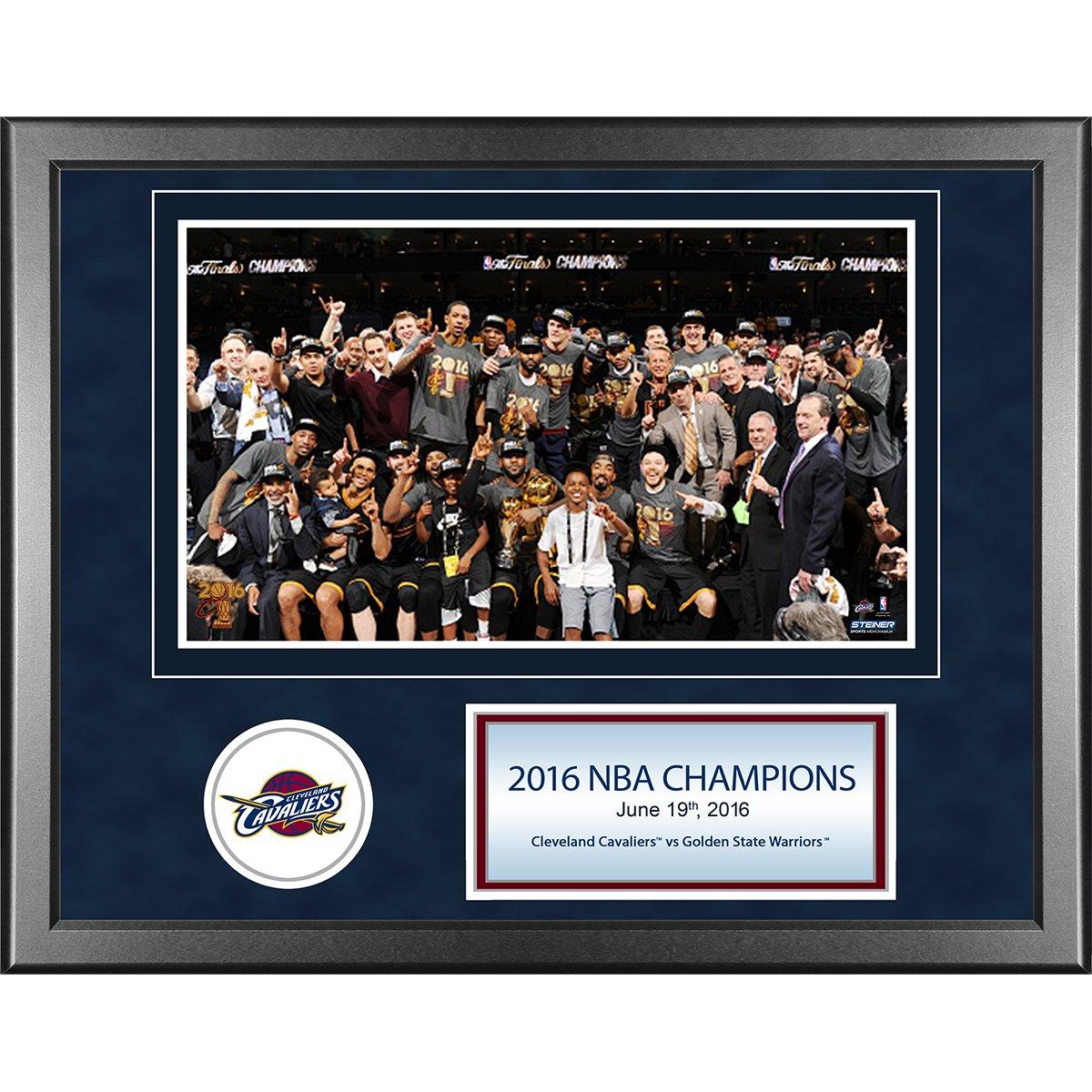 Steiner Sports NBA Cleveland Cavaliers Unisex 2016 NBA Champion Cleveland Cavaliers 11x14 Framed Photo with Nameplate, Navy