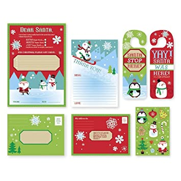 Amazon letter to santa kit new for christmas 2017 with letter to santa kit new for christmas 2017 with envelopes stickers and door spiritdancerdesigns Image collections