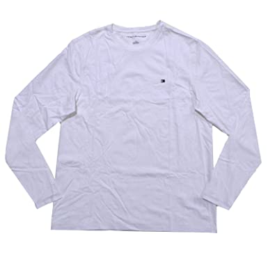 Tommy Hilfiger Mens Long Sleeve Crew Neck T-shirt (S, Classic White) d32b541c5c