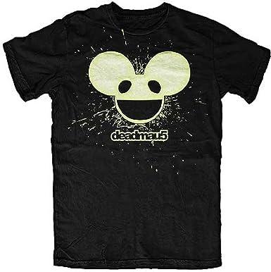 37bef0d272c48 Deadmau5 Logo (Glow In The Dark) - Deadmau5 T-shirt - Medium  Amazon.co.uk   Clothing