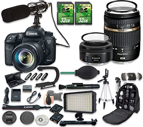 Amazon.com : Canon EOS 7D Mark II DSLR Camera Bundle with Canon EF ...