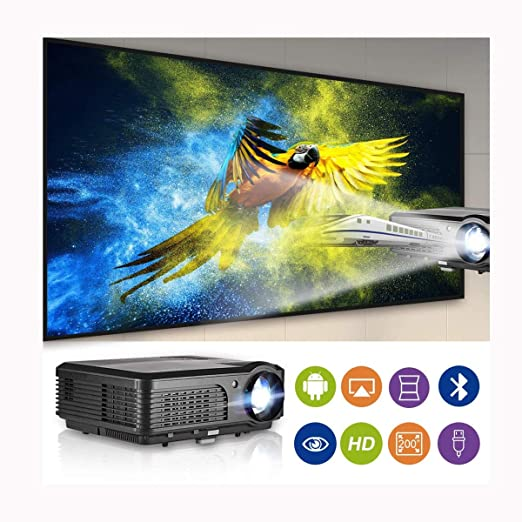Ai LIFE Proyector inalámbrico LCD HD Bluetooth con WXGA 8200 ...