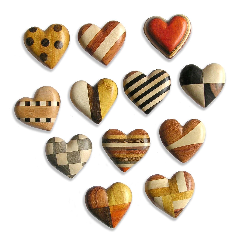 BG 5th wedding anniversary Decorative WOODEN HEART Wooden Worry Stone Heart WOODEN 5th Wedding Anniversary Heart