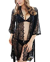 Unilove Sexy Lace Lingerie Night Dressing Robe Chemises For Women Set Of 4