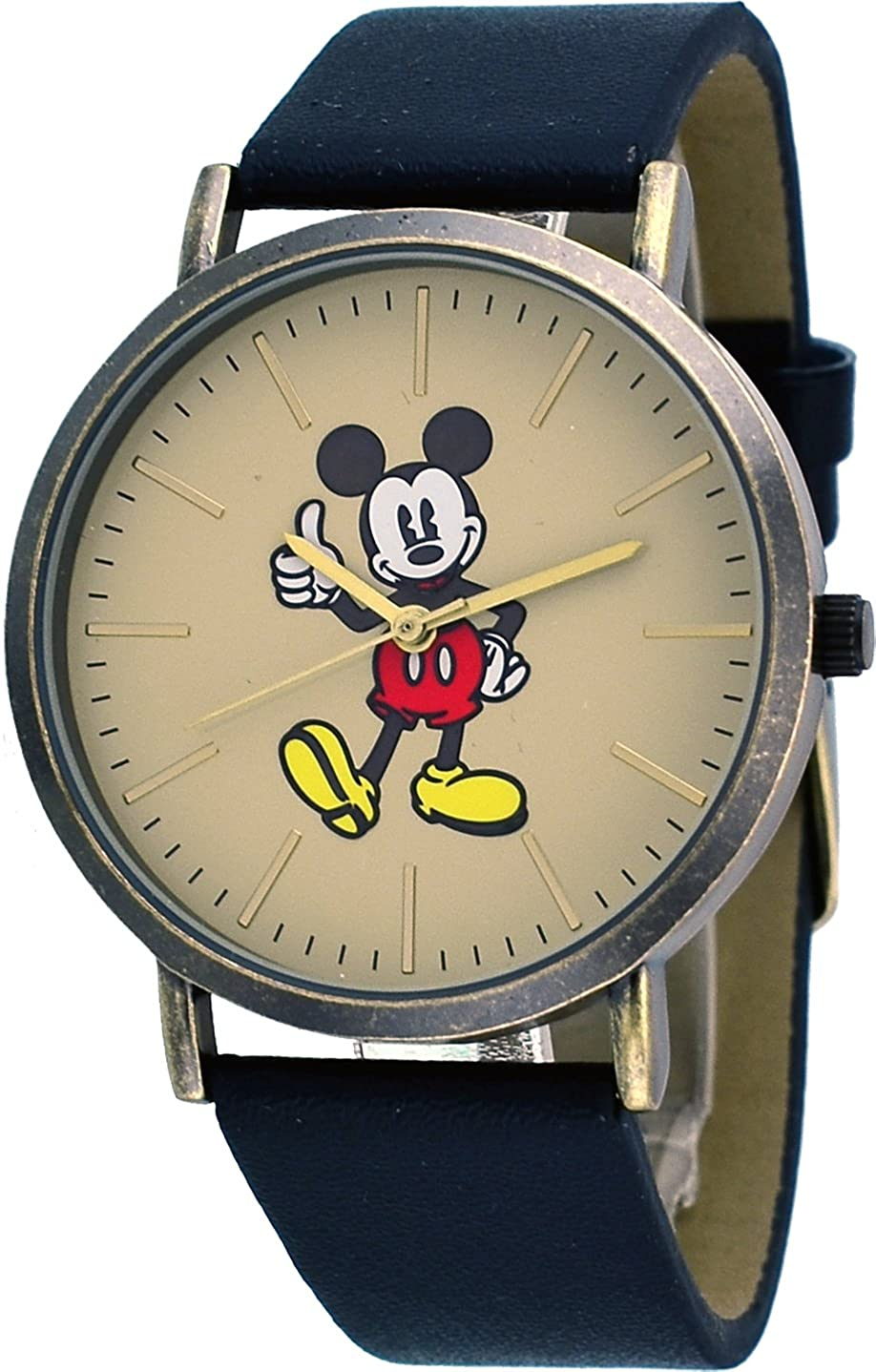 Disney MK1522 Unisex Vintage Copper Tone Minimalist Styling Mickey Mouse Thumbs Up Watch