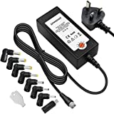 Powseed 36W AC Multi Voltage 5V 6V 7.5V 9V 12V 13.5V 15V Power Adapter Supply Switching DC Tips Selectable Freely for Household Electronics LED Light Wireless Router DVD CCTV Power Bank BT Speaker