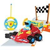 Cartoon R/C Formula Race Car Radio Control Toy by Liberty Imports (Assorted Colors)