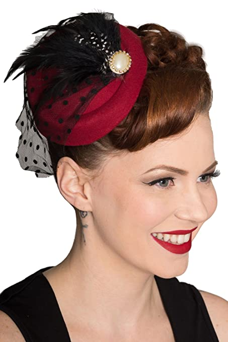 Vintage Hair Accessories: Combs, Headbands, Flowers, Scarf, Wigs Unisex-adults Banned All A Dream Hat (Black) $16.95 AT vintagedancer.com