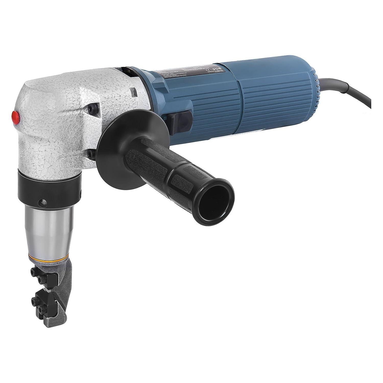 MSW BLS-300 Blechknabber Elektrische Blechschere Blechnibbler (625 W, Hubzahl 1.000/min, Schnittbreite 4,0 mm, inkl. Zubehö r)