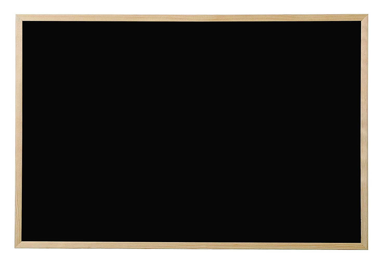 Bi-Office Lavagna Nera Per Gesso Basic, Cornice di Pino, 60 x 45 cm PM0401010