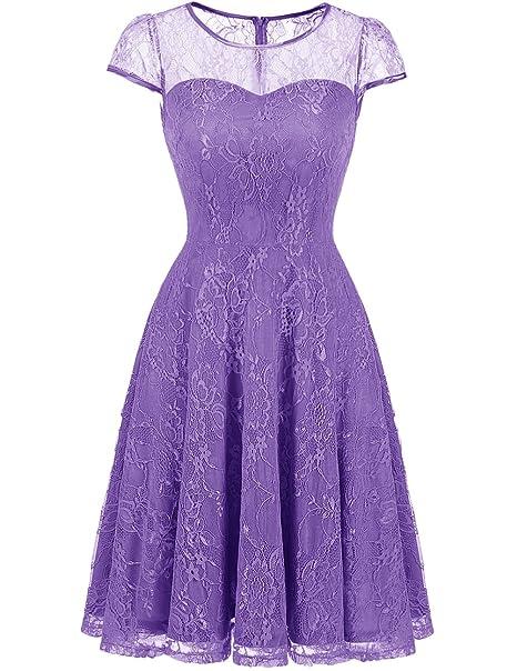 Dresstells - Vestido - para Mujer Morado Small