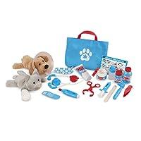Melissa & Doug 18520 (24 pcs) Examine and Treat Pet Vet Play Set, Multi-Colour