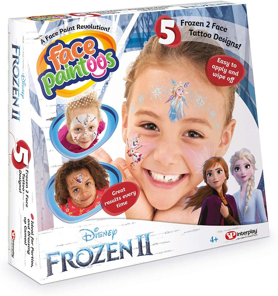 Face Paintoos FP201 Disney Frozen II (Temporary Face Paint Tattoos) 40% OFF £7.75 @ Amazon
