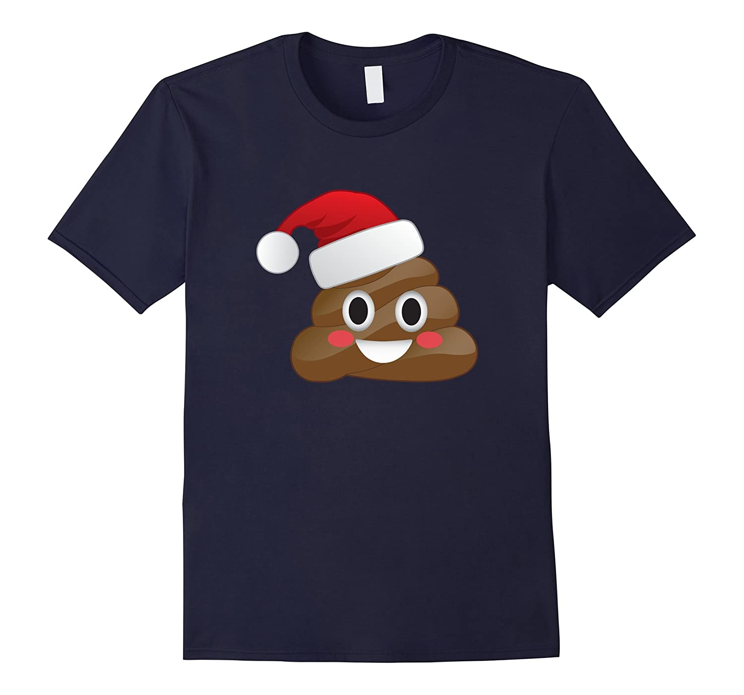 Funny Emoji Santa Hat Christmas Poop Shirt for Kids & Adults-azvn