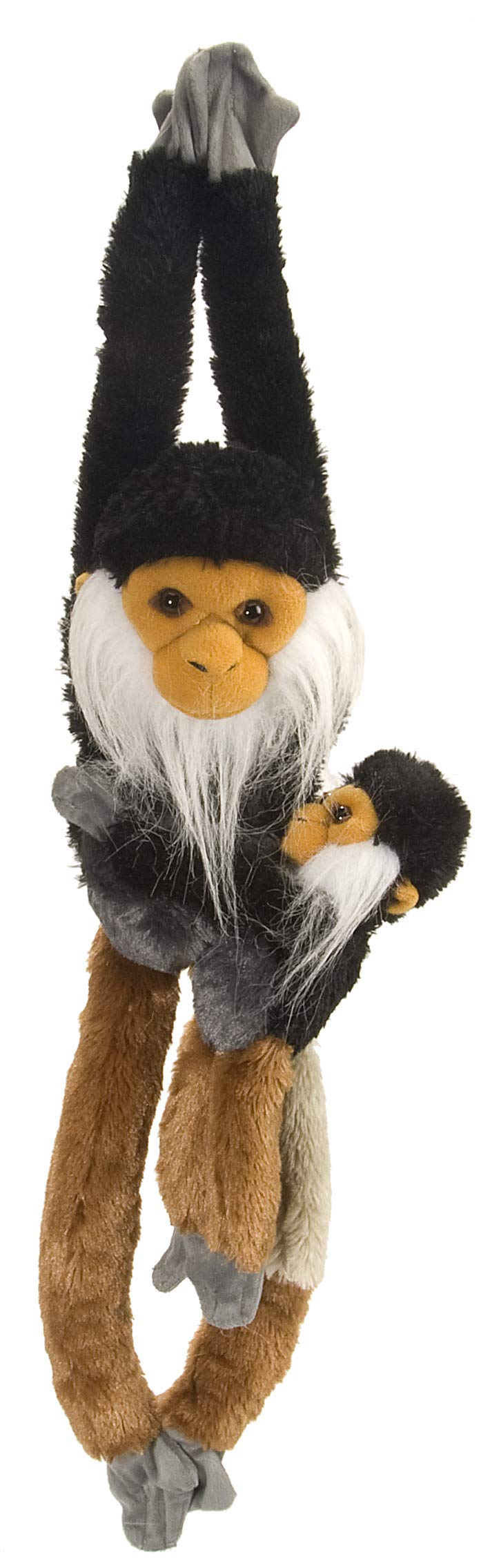 Wild Republic Douc Langur w/baby Plush, Monkey Stuffed Animal, Plush Toy, Gifts for Kids, Hanging 20 Inches
