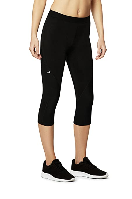 Physiclo Pro Resistance Women's Compression Capri Training Pants with  Built-in Resistance Band Technology