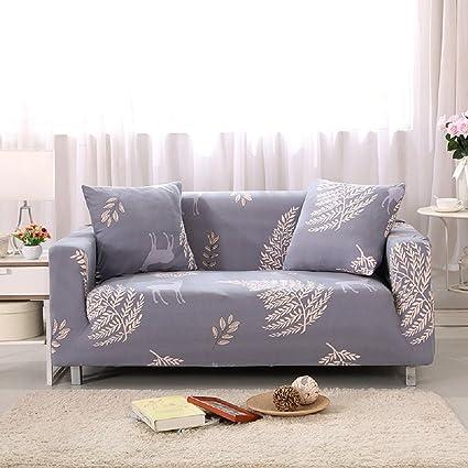 FORCHEER Funda para sofá de 1/2/3/4 plazas, funda para sofá, sillón elástico, protector de muebles, tela, Pattern #7, 3 Seater