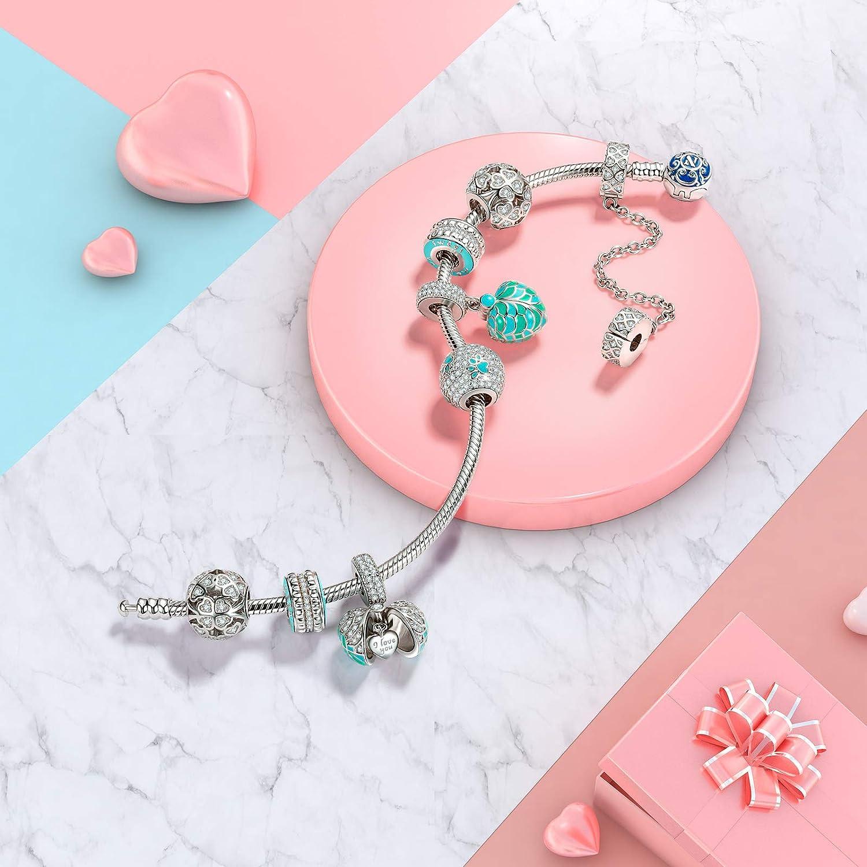 Rose Bijoux de Maman NINAQUEEN/® Charm//Souvenirs//Argent 925 avec Coffret Cadeau Le Choix pour la f/ête des m/ères Cadeau pour Maman Zircone