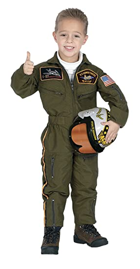 Amazon.com  Jr. Armed Forces Pilot Suit with Helmet Costume  Clothing e27cd227b9b