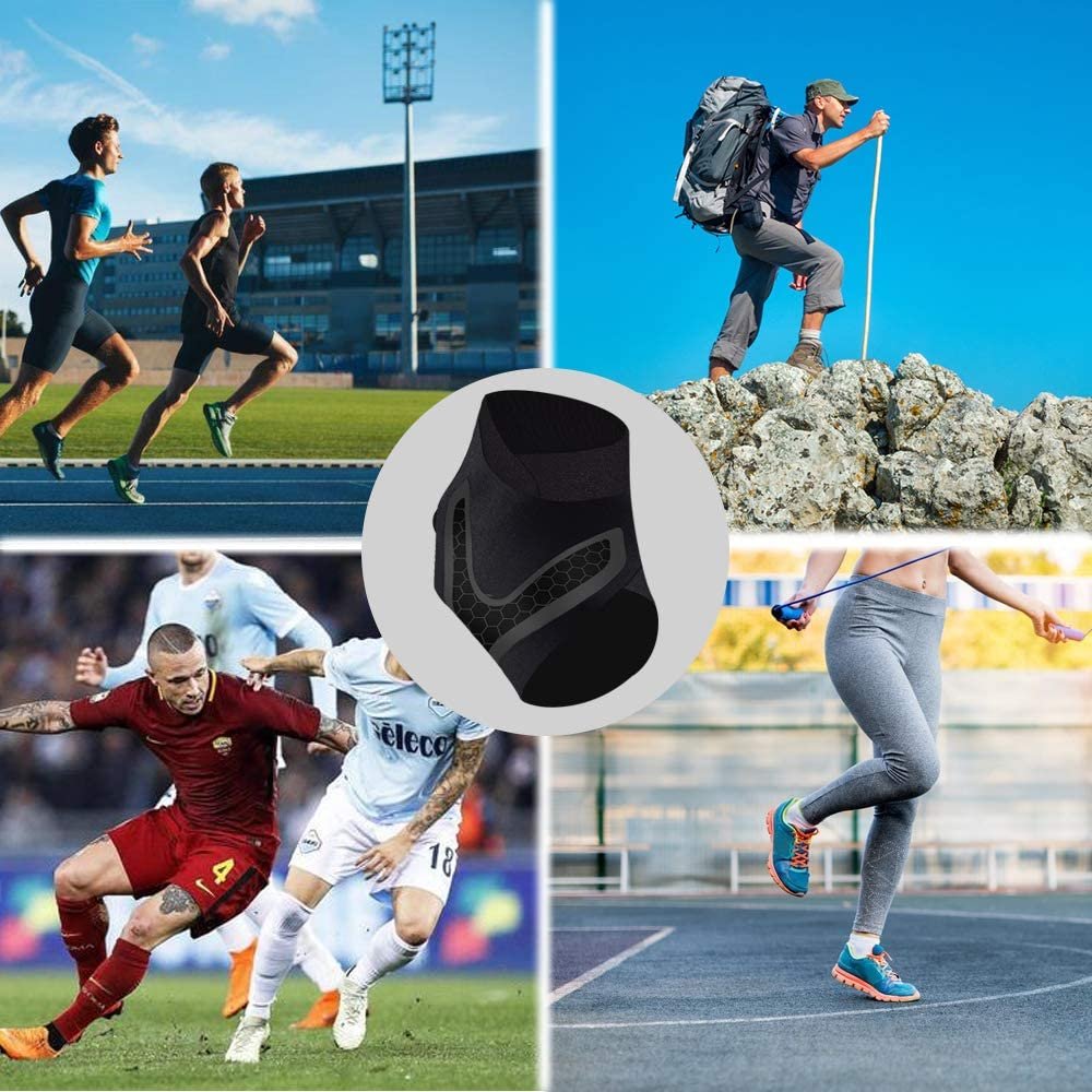 ARTHORN 1 Pair Ankle Support Compression Sleeve Adjustable and Breathable Ankle Brace for Men and Women,M
