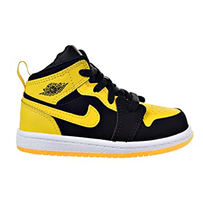 Nike Toddler Boy s Air Jordan 1 (Mid) Basketball Shoes Black Varsity Maize- ca9c327c4