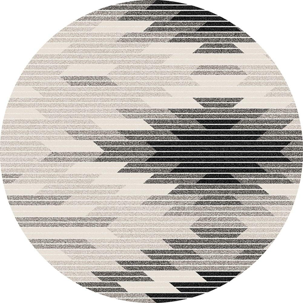 ZHWEI 丸型カーペット 滑り止めも強力 円形 ラグマット ドアマット 防カビ ノルディック 抽象的なスタイル ポリエステル 現代の 耐摩耗性 7色、 5サイズ (Color : B, Size : 160cm diameter) B07TFB1D1X B 160cm diameter