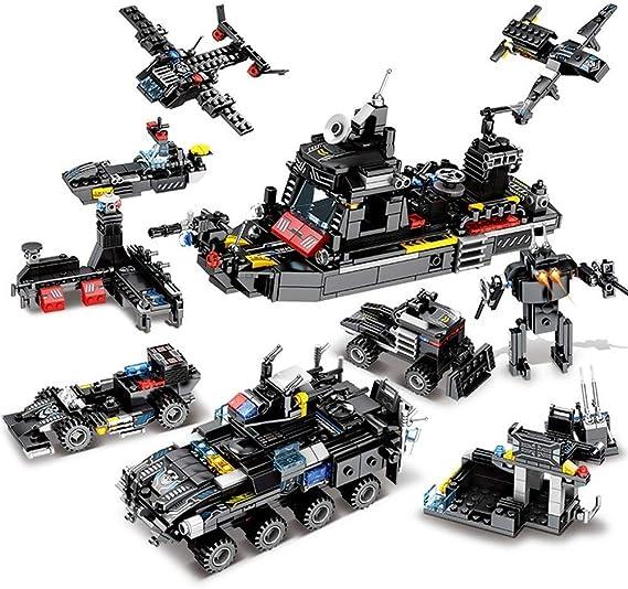 City Police SWAT:8 IN 1 Truck Station Building Blocks Set Ship Vehicle Bricks