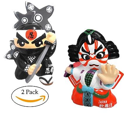 3D Refrigerator Magnets Japan Collection (Ninja, Kabuki)