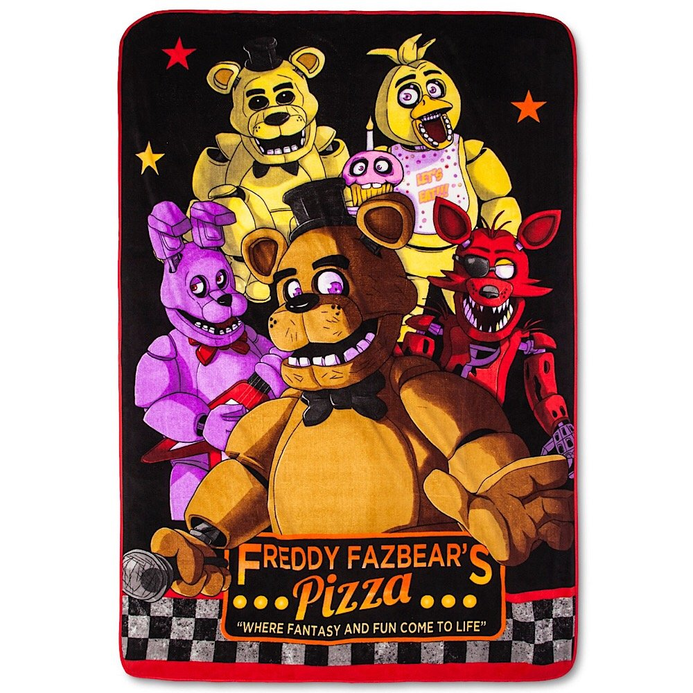 Five Nights at Freddy`s Twin Bed Plush Blanket