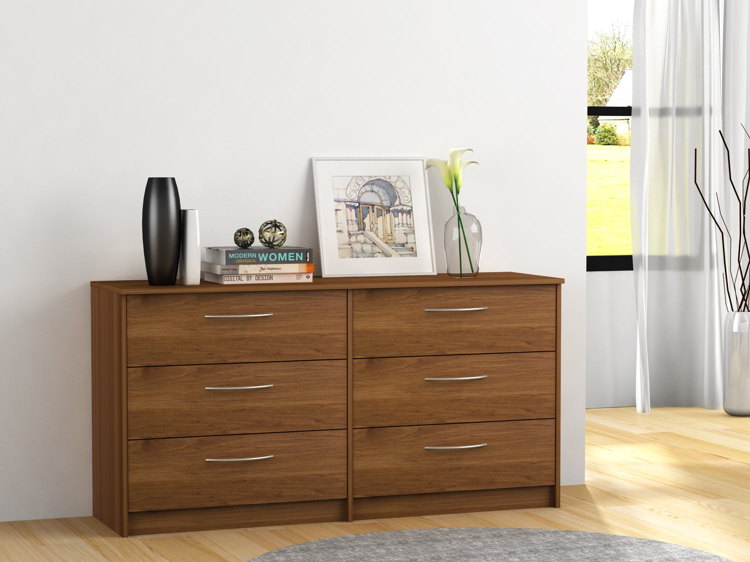 Finch 6 Drawer Dresser (Bank Alder)