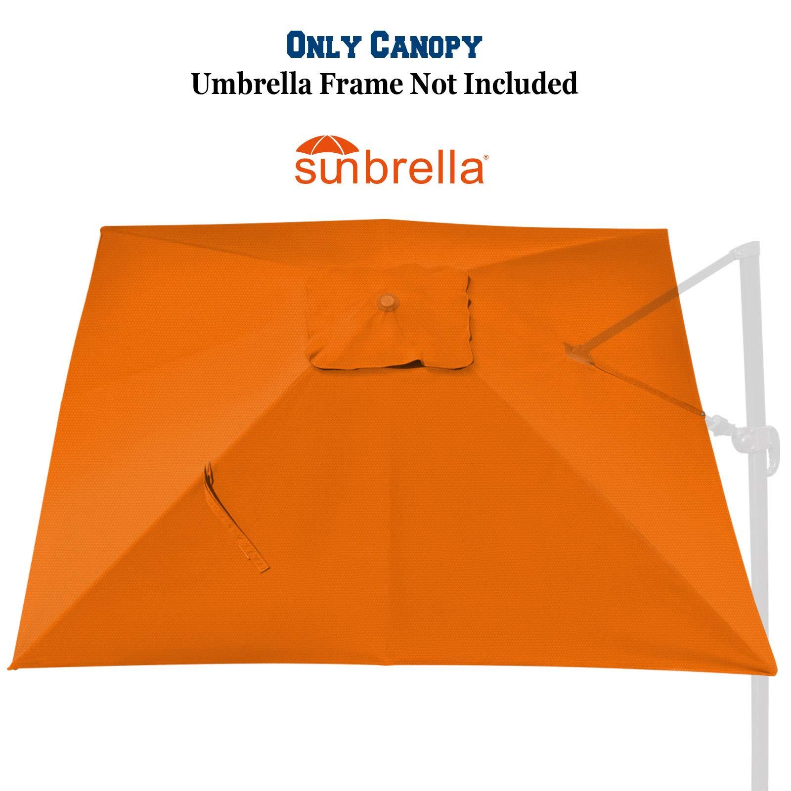 BenefitUSA Outdoor Replacement Canopy Cover for 10x10ft 8 Ribs Rome Cantilever Patio Umbrella Parasol Top Sunbrella Cover (Tuscan)