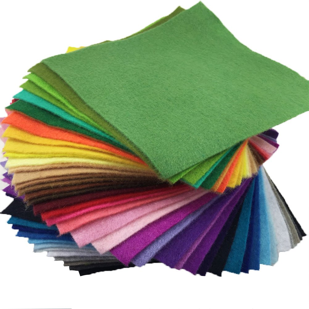 flic-flac 42pcs1.4mm Thick Soft Felt Fabric Sheet Assorted Color Felt Pack DIY Craft Sewing Squares Nonwoven Patchwork (30cm 30cm) by flic-flac (Image #3)