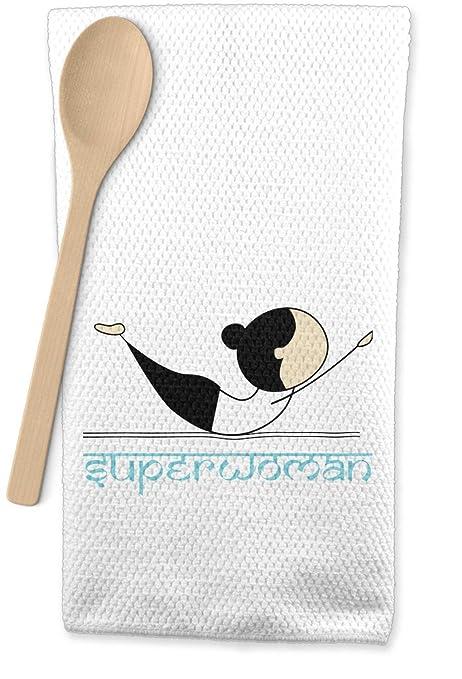 Poses de Yoga Waffle Weave paño de cocina (personalizado ...
