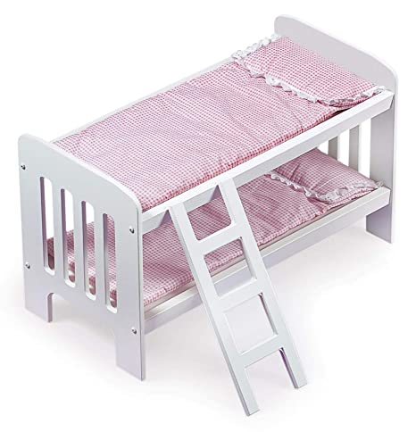 Amazoncom Badger Basket Doll Bunk Beds With Ladder Fits American