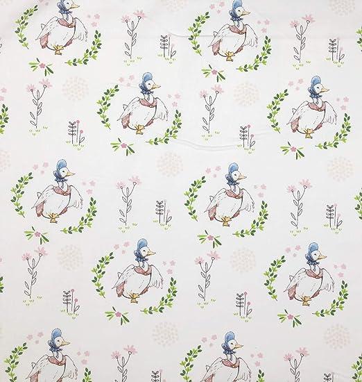 Little Pond Duck Elephant Set 2 SALE Set of 2 cotton fabric appliqu\u00e9s