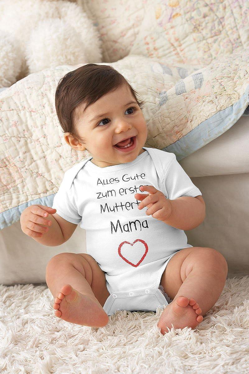 Shirtgeil Alles Gute zum ersten Muttertag Mama Herz Baby Geschenk f/ür Mutter Wickelbody