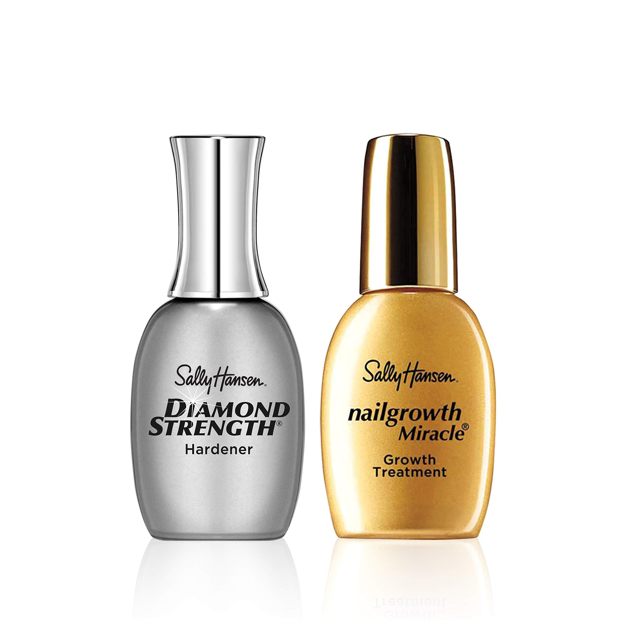 Sally Hansen Diamond Strength Instant Nail Hardener and Sally Hansen Nailgrowth Miracle Serum, Nail Kit, Pack of 2 by Sally Hansen