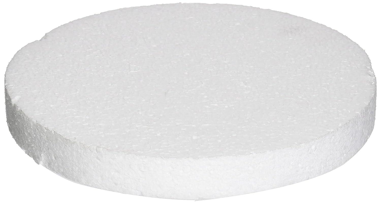 8 x 1 White Oasis Supply 746948 Dummy Round Cake