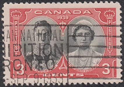 Stamp King George VI Queen Elizabeth 1939 Canada Canadian Postal