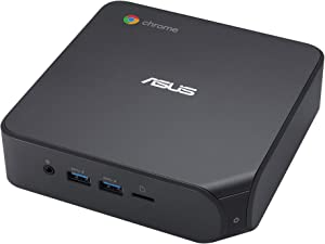 ASUS Chromebox 4 with Intel Celeron, 4GB RAM, 32GB eMMC Storage, Power/DisplayPort Over Type C, Dual HDMI, Gigabit LAN, WiFi 6, USB 3.2, MicroSD Card Reader, VESA Mount, Chrome OS
