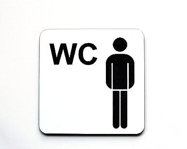 WC Cartel placa para puerta, inodoro, diseño de hombre y ...