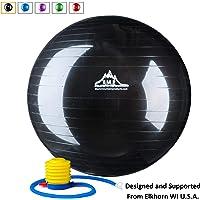 Black Mountain Products - Pelota de Resistencia estática con Bomba para Ejercicios de Estabilidad, 91,44 kg