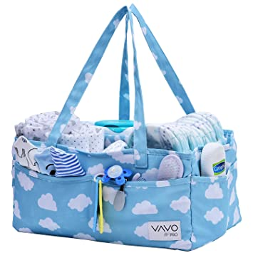 N 1T Baby Diaper Caddy Organizer Portable Holder Bag for Changing Table and Car