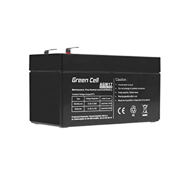 Green Cell® Batería AGM (12V 1.2Ah VRLA Faston F1)
