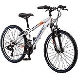 Schwinn High Timber Youth/Adult Mountain Bike, Aluminum and Steel Frame Options, 7-21 Speeds Options, 24-29-Inch Wheels, Mult